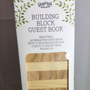 Building Block Guest Book By Ginger Ray